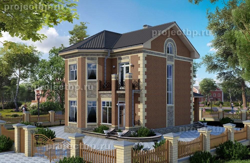 Проект компактного двухэтажного дома с эркером 108-B